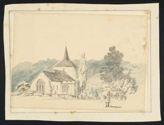 Joseph Mallord William Turner, Thomas Girtin, 'Mickleham Church, Surrey' c.1796