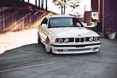 BMW E34 White, Classic, Low