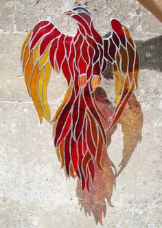 Available to buy from my Etsy shop ('visit' tab) Stained Glass Birds, Stained Glass Suncatchers, Stained Glass Designs, Stained Glass Projects, Stained Glass Patterns, Fused Glass, Mosaic Glass, Mosaic Art, Mosaic Mirrors