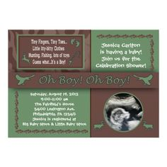 Hunting and Fishing Baby Shower invitations!  Easy to customize and order online!
