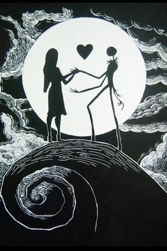 nightmare before christmas jack and sally - Google Search
