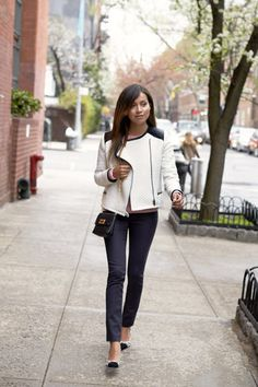 Adore this outfit!  Throw this quilted jacket over anything that you already have in your closet.