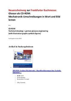 Ebay-Angebot (Suchergebnisse Preisvergleich): Neuerscheinung Lexikon Mechatronik Technikbegriffe-Erklaerungen Abbildungen