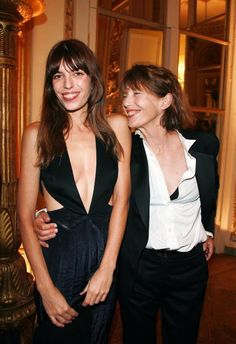 Not sure of who these people are. But they're a fly mother-daughter pair (Lou Doillon and her mother Jane Birkin)