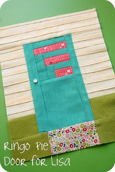 such a cute block--part of Ringo Pie Quilt Bee
