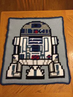 Diy star wars crochet blanket the perfect crochet blanket pattern robot blanket star wars crochet blanket made to order publicscrutiny Gallery