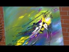 ▶ Abstract Painting Demonstration Abstrakte Acrylmalerei Bumblebee at Springtime - YouTube