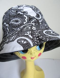 3df9b597e81 Bucket Hat by Paisley Power with paisley rat pattern. This hat is fully  reversible Paisley