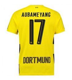 Puma Borussia Dortmund Home Short Sleeve Shirt (Kids) (Aubameyang European Soccer, Fc Chelsea, Soccer Shop, Zinedine Zidane, Ac Milan, Tottenham Hotspur, Liverpool Fc, College Football, Iker Casillas