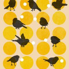 Birdsong Yellow Art Print