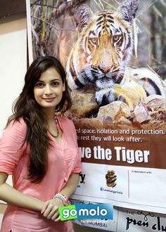 Dia Mirza at the launch of Leave Me Alone - Save The Tiger campaign at Press Club in Mumbai