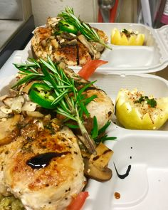 Chicken to Togo  Dinner tonight  Mahi mahi  with wine garlic butter mushroom on topsauce , urugula salad  & green rice  !!!