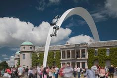 gerry judah arches mercedes-benz sculpture at goodwood festival of speed