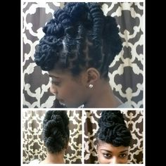 beautiful loc up-do