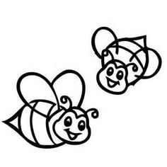 bee coloring pages two smiling bumblebee on the farm coloring page