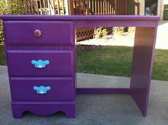 purple desk like the handles