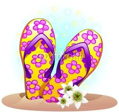 #Floral #Flip_flops For #Beach #Summer #Holidays! #Vector © #Bluedarkat - on #Fotolia!