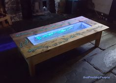 DIY Pallet Coffee Table - Glow in the dark wood projects with  Lichtenberg. Love this guy's videos.