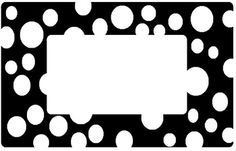 FREE from MrsCroak on TpT. These black and white labels are created on Avery Template