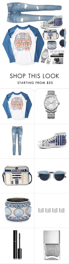 """Starwars"" by foreverfashionfever101 ❤ liked on Polyvore featuring Junk Food Clothing, Calvin Klein, Current/Elliott, Christian Dior, Chico's, Maison Margiela, Chanel, blueandwhite, BloggerStyle and starwars"