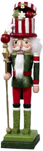 Hollywood Nutcrackers Kurt Adler 18-Inch Hollywood Striped Hat Nutcracker - List price: $61.25 Price: $44.49 Saving: $16.76 (27%)