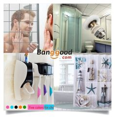 """Banggood III/7"" by zenabezimena ❤ liked on Polyvore featuring bathroom"