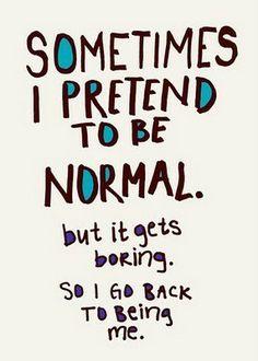 It gets boring...
