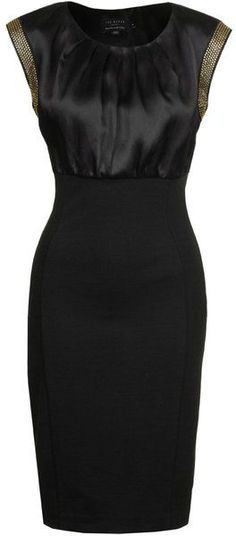 58163d3f7afc5 Ted Baker Elate Cocktail Dress - Lyst Ted Baker Black Dress
