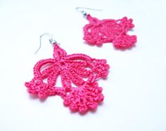 PDF Tutorial Crochet Pattern...Dangle Earrings 23