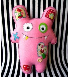 I want babies to have stuffed monters instead of regular animals (except elephants) or dolls.