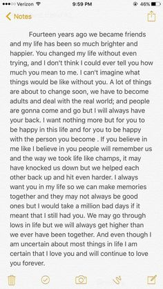 Me and my best friend are graduating from high school and I write her a letter. Source by The post Me and my best friend are graduating from high school and I write her a letter. Friendship Quotes appeared first on Quotes Pin. Besties Quotes, True Quotes, Bestfriends, High Quotes, Quotes Quotes, Letter To Best Friend, Best Friend Birthday Letter, To My Best Friend, Letters For Friends