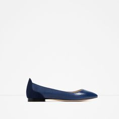 Image 2 of EMBOSSED BALLET FLATS from Zara