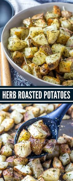 Herb Roasted Potatoes are the perfect side dish to any meal. Easy to whip togeth… Herb Roasted Potatoes are the perfect side dish to any meal. Easy to whip together and minimal effort, these potatoes are an easy side dish recipe that everyone loves. Herbed Potatoes, Herb Roasted Potatoes, Roasted Vegetables, Veggies, Radish Recipes, Healthy Recipes, Instant Pot, Side Dish Recipes, Ark Recipes