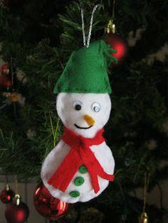 Boneco de neve em feltro