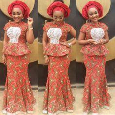 Top Ten Hot Nigerian Ankara  Skirt And Blouse Styles  Dabonke