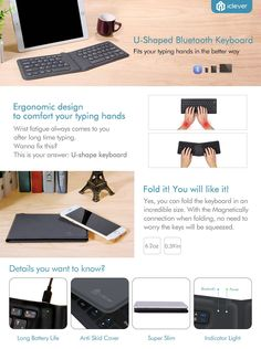 iClever Foldable Bluetooth Keyboard, Ultra Compact Rechargeable Wireless Keyboard for Windows iOS Mac Android Tablets Smartphones, Designed for Better Typing, Gray