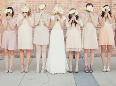 DEFINITELY want the mismatched, vintage-y-esque bridesmaids dresses they can pick themselves. They really will be able to wear them again - and not spend $200 on them.