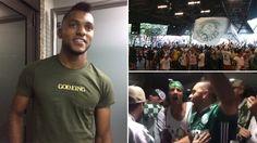 Borja desembarcou em São Paulo nos braços de centenas de torcedores do Palmeiras