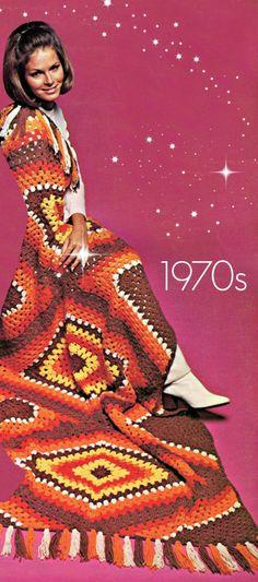 "$1.68 Diamond Afghan CROCHET 70s Vintage Crochet Pattern Granny Square Crochet Pattern about 40 x 76""+fringe Bohemian Crochet Pattern Instant PDF by VintageBeso on Etsy"