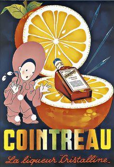 Classic Poster♥ Cointreau La Liqueur Cristalline Liquer Drink  Bar Pub  Art Print