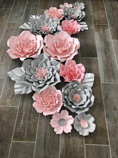 Conjunto rosa y gris