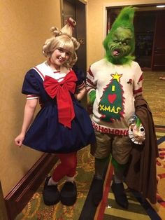 cindy lou who and the grinch costumes - Baby Grinch Halloween Costume