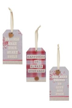 Buy Set Of 3 Hanging Tags from the Next UK online shop