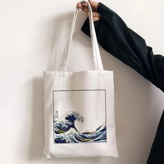 Good quality and sturdy tote bag Sacs Tote Bags, Diy Tote Bag, Canvas Tote Bags, Tod Bag, Sac Tods, Aesthetic Bags, Aesthetic Clothes, Sacs Design, Painted Bags