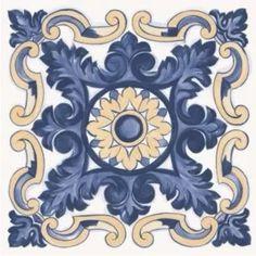 Vinilos Decorativos Para Azulejos. Mandalas. Pack Por 16 - $ 99,00 Marble Art, Tile Art, Mosaic Tiles, Spanish Tile, Portuguese Tiles, Decorative Tile, Home Decor Fabric, Hand Painted Ceramics, Tile Patterns