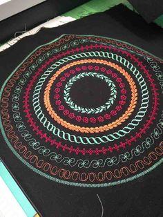 Pfaff circular embroidery guide