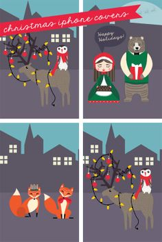 My Owl Barn: December Desktop + iPhone Wallpaper