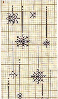 Snowflakes 1 of 2 Xmas Cross Stitch, Cross Stitch Christmas Ornaments, Beaded Cross Stitch, Cross Stitch Borders, Modern Cross Stitch Patterns, Christmas Cross, Cross Stitching, Cross Stitch Embroidery, Christmas Embroidery Patterns