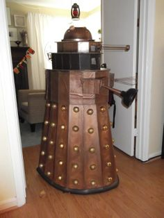 Homemade Dalek Costume from Dollar Store supplies @Shellie Giddings Mull, are you sure Elijah wouldn't rather be a dalek than 11 this year? :P