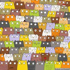 Unartista esconde ensus ilustraciones objetos tan simpáticos que esimposible noencontrarlos Hidden Images, Hidden Pictures, Ache O Gato, Puzzle Photo, Illustrator, Can You Find It, Wheres Wally, Spotted Cat, Picture Puzzles